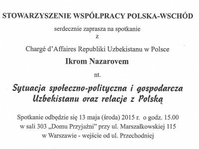 Sytuacja społeczno-polityczna i gospodarcza Uzbekistanu oraz relacje z Polską