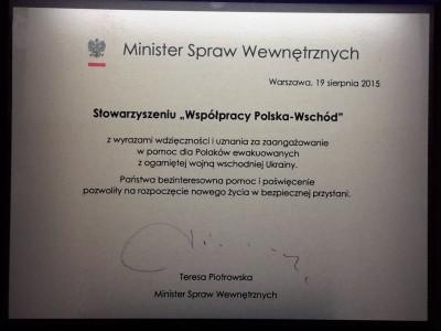 Podsumowanie programu ewakuowanych osób polskiego pochodzenia z Donbasu