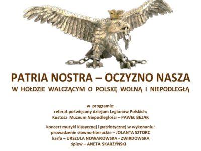 Patria Nostra – Ojczyzno Nasza